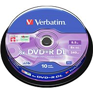 Verbatim DVD + R 8x Dual Layer 10 Stück cakebox