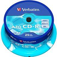 VERBATIM CD-R 80 52x KRISTALL. Spindl 25pck / BAL