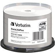 VERBATIM CD-R 80 52 x PRINT. Wide Silver Inkjet spindl 50 Stück