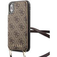 Guess 4G Crossbody Cardslot Hülle für iPhone X / XS Braun - Handyhülle
