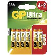 GP Ultra Alkaline LR03 (AAA) 4+2 St im Blister - Einwegbatterie