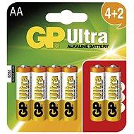 GP Ultra Alkaline LR06 (AA) 4+2 Stück im Blister - Einwegbatterie