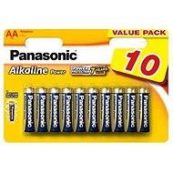Panasonic AA LR6 Alkaline Strom 10 Stk. - Einwegbatterie