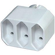 EMOS-Steckdose 3 × flach, weiß - Steckdose