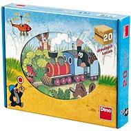 Der kleine Maulwurf und Transportmittel - 12 Holzwürfel - Bild-Würfel