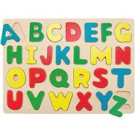 Woody Puzzle auf einem Brett - Alphabet