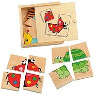 Woody Minipuzzle - Marienkäfer - Puzzle