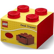 LEGO Tischbox 4 mit Schublade rot - Aufbewahrungsbox