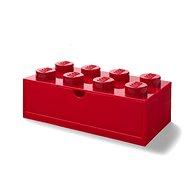 LEGO Desk Drawer 8 mit Schublade - rot - Aufbewahrungsbox