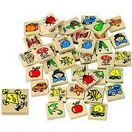 Detoa Memory Spiel aus Holz - Memoryspiel
