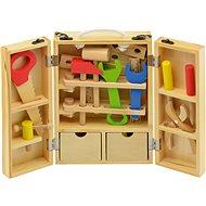 Werkzeuge in einem Holzkasten - Spielset