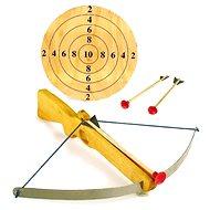 Große Armbrust mit Pfeilen und Ziel - Spielzeugwaffe