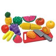 Obst und Gemüse in einem Kasten in Scheiben geschnitten - Spielset