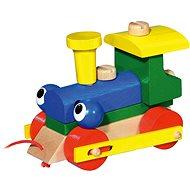 Zwinkernde Lokomotive / Abschleppzug - Holzspielzeug