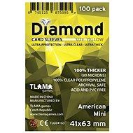 Kartenhüllen Diamantgelb: American Mini (41x63 mm) - Zubehör für Kartenspiele