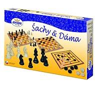 DETOA Brettspiel - Schach und Dame - Gesellschaftsspiel