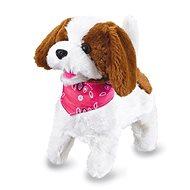 Jamara Plüschhund, weiss-braun mit Fernbedienung - Interaktives Spielzeug