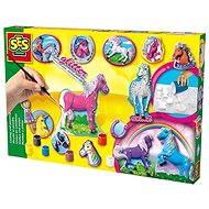 SES Kreativ-Set - Gießen und Anmalen - Pferde - Malen für Kinder