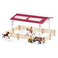 Schleich 42344 Stall mit Pferden und Zubehör in Pastellfarben - Spielset