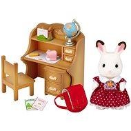 Sylvanian Families Schokoladenhasen Schwester mit Schreibtisch - Spielset