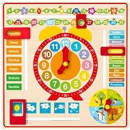Woody Vielseitiger Kalender mit Uhr CZ - Didaktisches Spielzeug