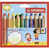 Stabilo Woody Buntstifte - 10 Farben - Buntstifte