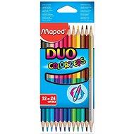 Buntstifte-Set mit 24 Farbstiften, beidseitig verwendbar - Bundstifte