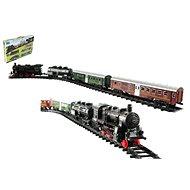 Eisenbahn + 3 Wagons mit Schienen, 24 Stück