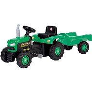 DOLU Trettraktor mit Anhänger - grün - Trettraktor