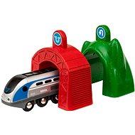 Brio World 33834 Smart Tech Zug mit Action Tunnels - Bausatz