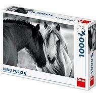Schwarz-Weiße Pferde - Puzzle