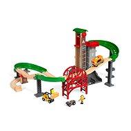 Brio World 33887 Set Lager mit Hebe- und Ladeausrüstung - Modelleisenbahn