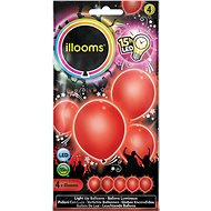 LED-Ballons - rot 4 Stück - Spielset