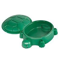 Paradiso Schildkröte dunkelgrün mit Deckel - Sandkasten