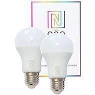 Immax NEO Smart Set 2x LED-Glühbirne E27 9W farbig und warmweiß, dimmbar, ZigBee 3.0 - LED-Birne