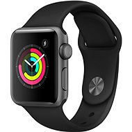 Apple Watch Series 3 38mm GPS Space graues Aluminium mit schwarzem Sportarmband - Smartwatch