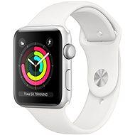 Apple Watch Series 3 42mm GPS Aluminiumgehäuse, Silber, mit Sportarmband, Weiß - Smartwatch