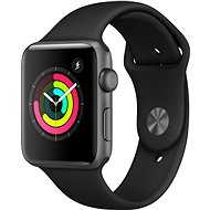 Apple Watch Series 3 42mm GPS Space graues Aluminium mit schwarzem Sportarmband - Smartwatch