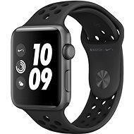 Apple Watch Series 3 Nike + 42mm GPS Aluminium­gehäuse, Space Grau, mit Nike Sportarmband, Anthrazit/Schwarz - Smartwatch