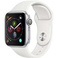 Apple Watch Series 4 40mm Silber Aluminium mit weißem Sportarmband - Smartwatch