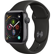 Apple Watch Series 4 40mm Space Black schwarz Aluminium mit schwarzem Sportarmband - Smartwatch