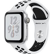 Apple Watch Series 4 Nike+ 40mm Silber Aluminium Nike Sportarmband Platinum/Schwarz - Smartwatch