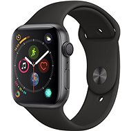 Apple Watch Series 4 44mm Space Gray Aluminium mit schwarzem Sportarmband - Smartwatch