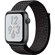 Apple Watch Series 4 Nike+ 44mm Space Black Aluminium Sport-Loop Schwarz - Smartwatch