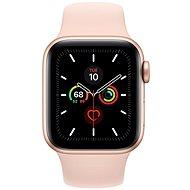 Apple Watch Series 5 40mm Gold Aluminium mit sandrosa Sportarmband - Smartwatch