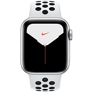 Apple Watch Series 5 Nike + 40mm Silber Aluminium mit Nike Sportarmband in Platin / Schwarz - Smartwatch