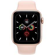 Apple Watch Series 5 44mm Gold Aluminium mit Sandrosa Sportarmband - Smartwatch