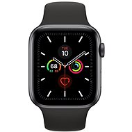 Apple Watch Series 5 44mm Space Grey Aluminium mit schwarzem Sportarmband - Smartwatch
