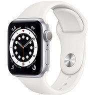 Apple Watch Series 6 40mm Aluminiumgehäuse Silber mit Sportarmband weiß - Smartwatch