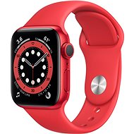Apple Watch Series 6 40mm Aluminiumgehäuse Rot mit Sportarmband rot - Smartwatch